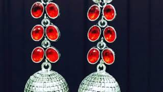 Latest German Silver Earrings Collection !!! For Order WhatsApp +919962524568/+919865131767