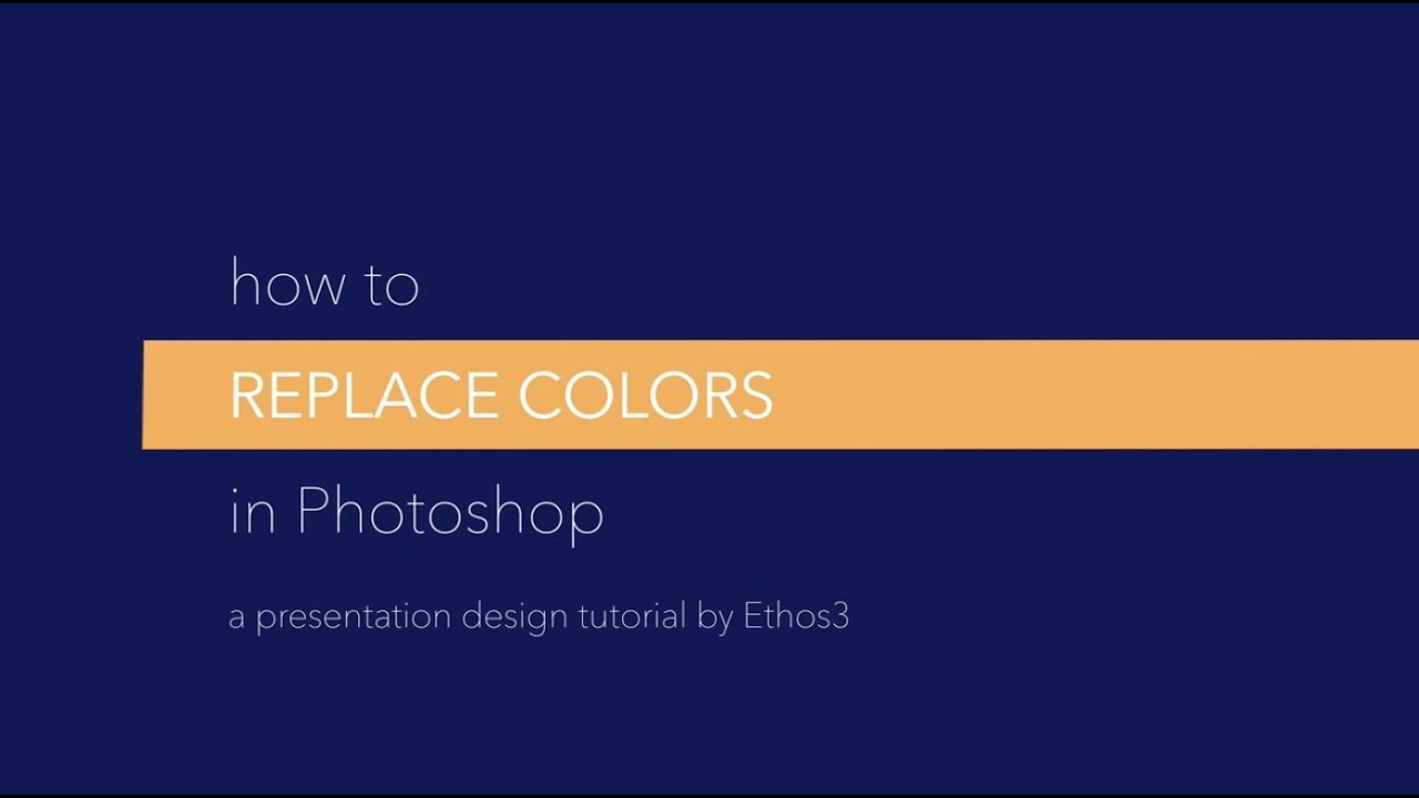 How To Replace Colors In Photoshop For PowerPoint Presentations