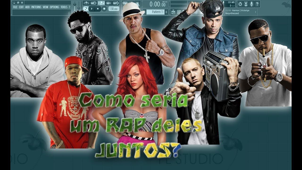Todos em um RAP! Emicida, Kanye West, Racionais, 50 Cent, Rihanna, Eminem, Projota e Nas!