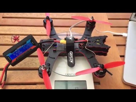 Rare extreme battery test - thrust test of the whole quadcopter