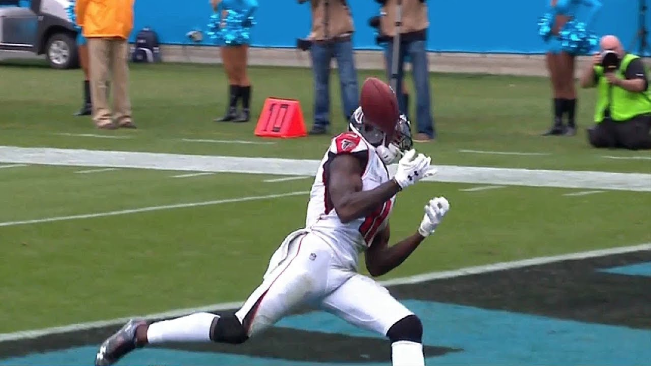 Julio Jones Unbelievable Dropped Pass Falcons Vs Panthers Nfl Youtube