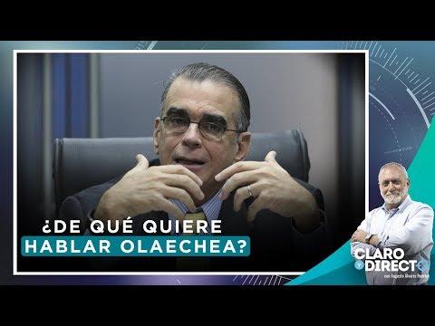 ¿De qué quiere hablar Olaechea? - Claro y Directo con Augusto Álvarez Rodrich