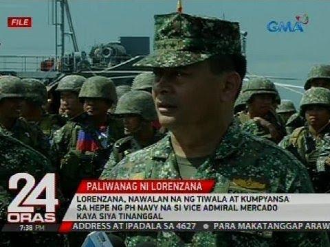 Lorenzana, nawalan na ng tiwala at kumpyansa kay Vice Admiral Mercado kaya siya tinanggal