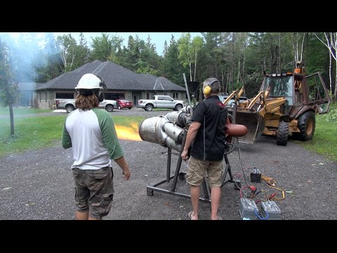 Redneck M701 Jet Engine start up!  Ep #3 PowerModz!