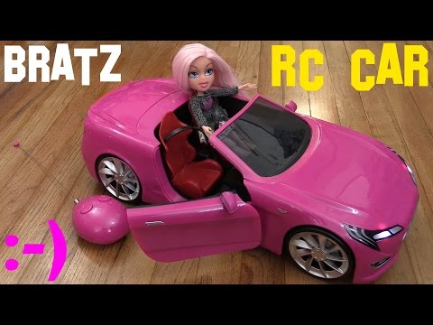 Toys for Little Girls: Pink BRATZ Remote Control Car and Toy Doll Cloe Unboxing & Playtime