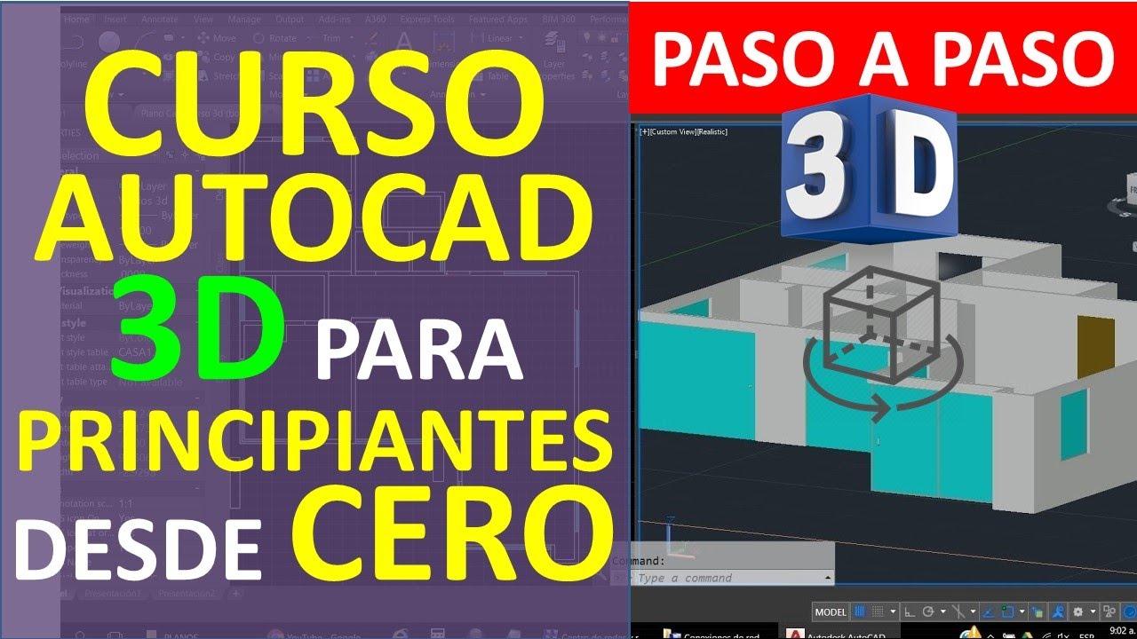Curso autocad 3d dibujar plano de casa en 3d parte 1 for Programa para distribuir una casa