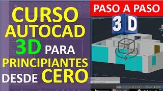 Curso AutoCAD 3D: Dibujar Plano de Casa en 3D - Parte 1: Entorno 3D, Dibujo de Muros, Solidos