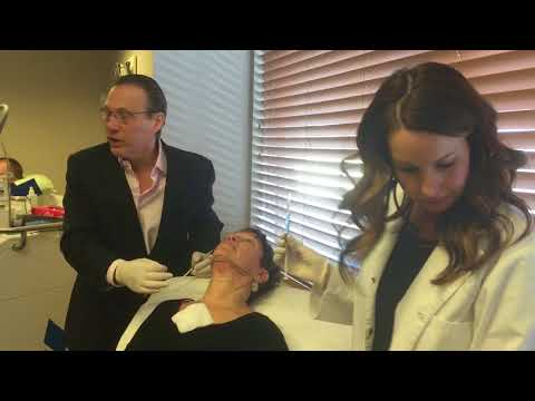Dr. Saltz Eliminates Double Chin-  Kybella Treatment on Female Patient