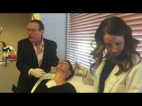 Dr. Saltz Eliminates Double Chin- Kybella Treatment on Female Patient