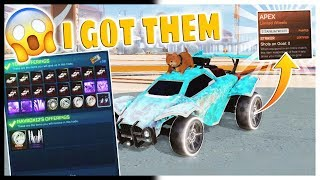 I GOT STRIKER TW APEX ON ROCKET LEAGUE (INSANE TRADE I GOT MY DREAM WHEEL)PS4