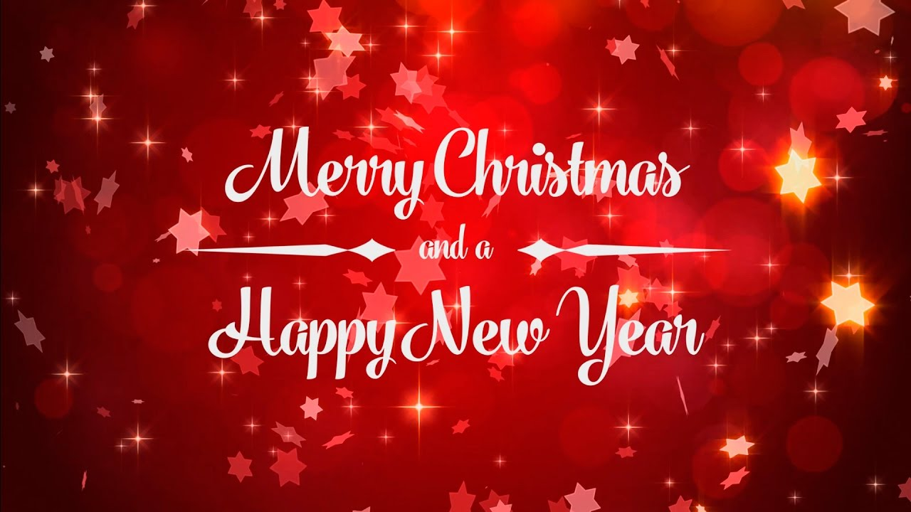 Merry Christmas - Happy new Year - Animated Background Loop - YouTube