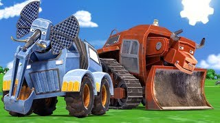 animacars cartoon with trucks and animals for children official live stream