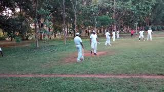 Playing cricket ARTI days