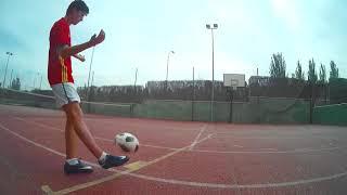 Scoring A Football Shot Into Basketball Net