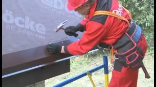 видео Ветровая планка для металлочерепицы и монтаж карнизной планки