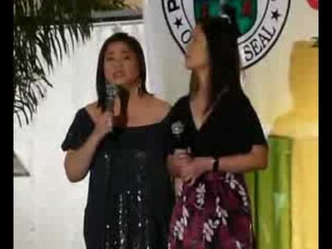 Marissa Sanchez and Mariz Ricketts sing
