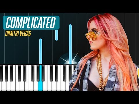 """Dimitri Vegas Like Mike  - """"Complicated"""" Piano Tutorial - Chords - How To Play - Cover"""