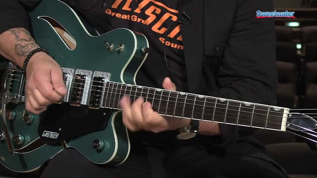 gretsch g5622t cb electromatic center block demo sweetwater sound youtube [ 1280 x 720 Pixel ]
