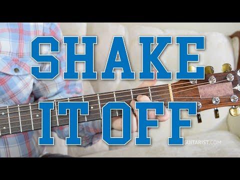 """Shake It Off"" Guitar Tutorial -Taylor Swift | Chords & Strumming (3-Chord Song)"