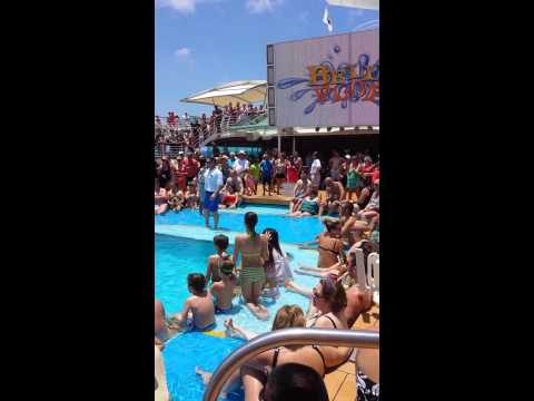 Vision of the Seas- Belly Flop Contest (Dustin)
