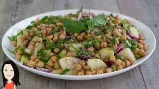 Mediterranean Style Potato Salad - No Oil, No Fat... Full Of Flavor!