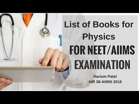 Strategy of Physics for NEET and AIIMS - List of Books for Physics