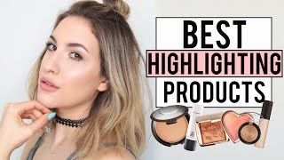 The BEST HIGHLIGHTING Products for GLOWY SKIN | Drugstore + High End | JamiePaigeBeauty