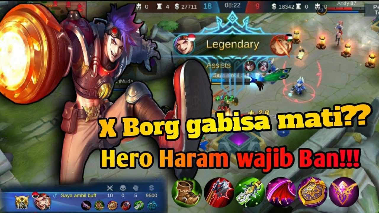 CARA MAIN PAKE X-BORG - Mobile legends - YouTube