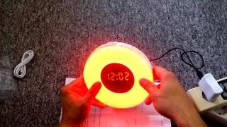 Aufwachen mit Licht INLIFE Sonnenaufgang Wecker,FM Wecker mit 7 Farben und 7 Tönen