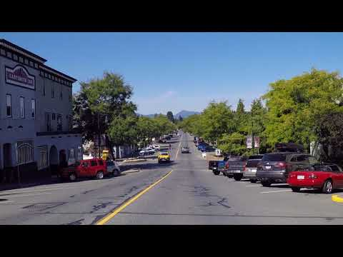 Driving in LADYSMITH - Small Town Vancouver Island - BC Canada - Downtown Area