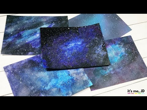 5 EASY WAYS TO DRAW A GALAXY | Paint Galaxies Using Watercolor, Acrylics, Ink Blending and Markers!