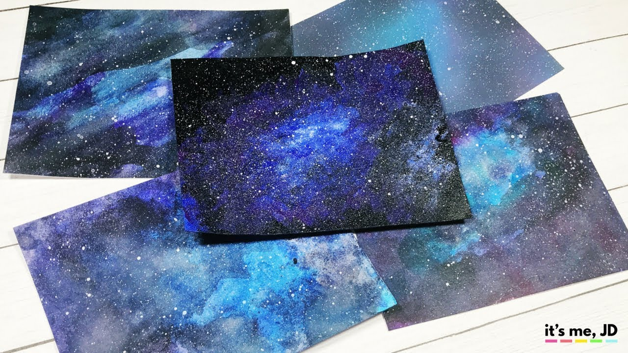 5 Easy Ways To Draw A Galaxy Paint Galaxies Using