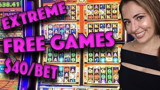 Extreme FREE Games on $40/BET on Rhino Charge in Vegas!