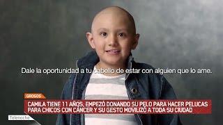 GROSOS: Camila encontró la forma de donar su pelo para chicos con cáncer