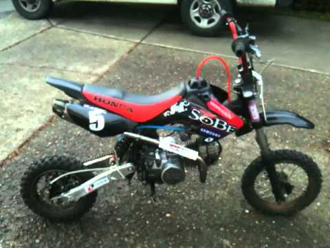 125cc Gpx Pit Bike Ssr Review Custom Youtube