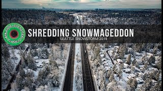 Shredding Seattle Snowmageddon 2019 // Droning, Snowboarding, and Snowmobiling the Cold Streets