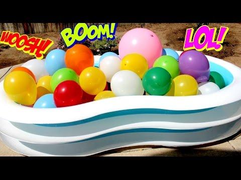 HUGE BALLOONS SURPRISE!! Water Balloon Pop Huge Surprise Toys |B2cutecupcakes