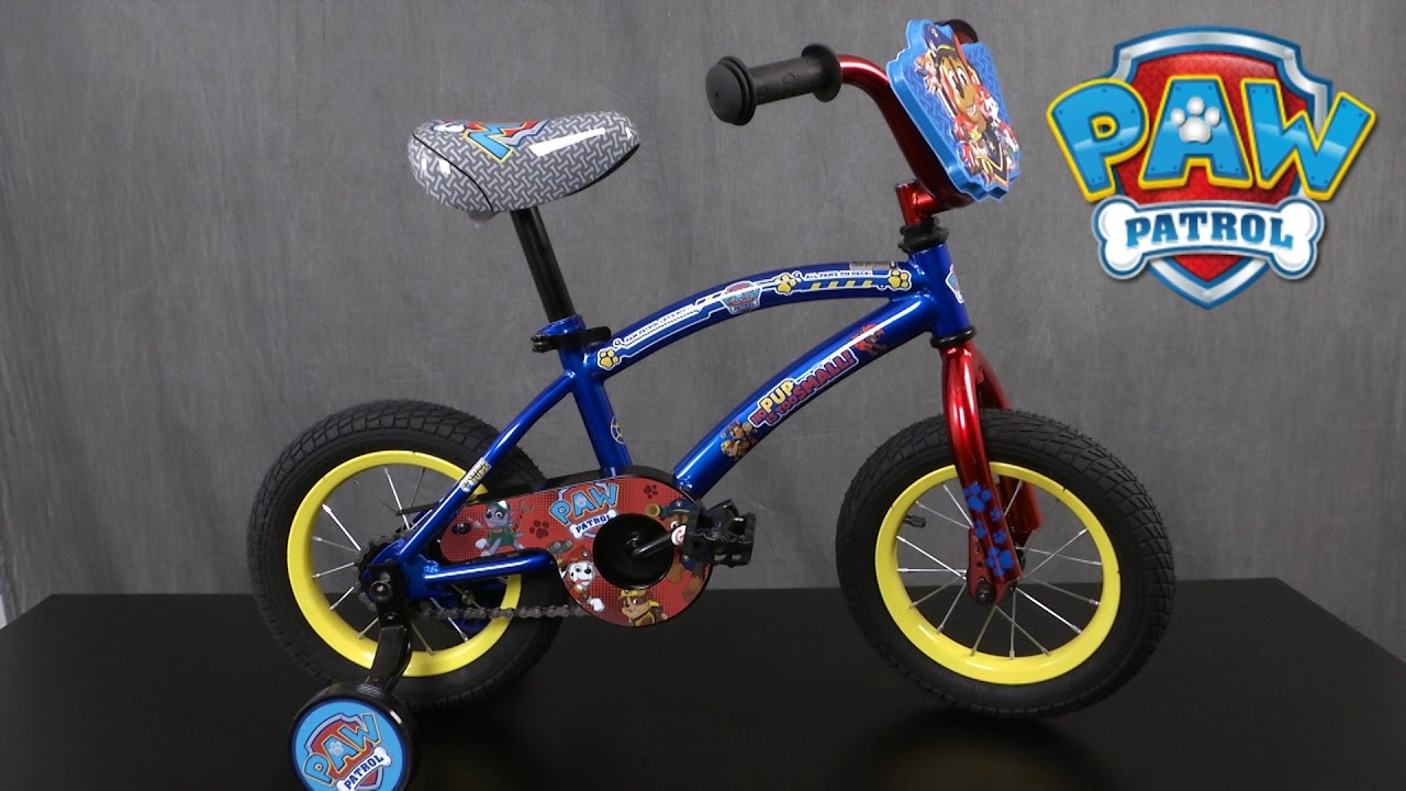 Paw Patrol 12 Inch Bike From Pacific Cycle Youtube