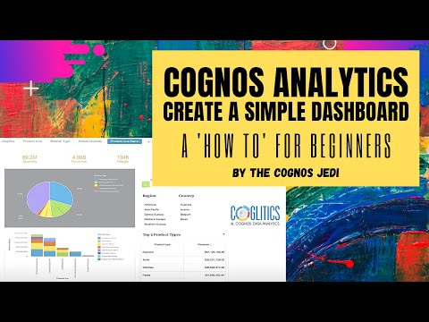 #CryptoDataAnalyst   Cognos Analytics 11 lesson   Create a simple Dashboard   For Complete Beginners