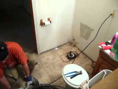 How To Snake Out Main Drain Using A Basket Type Auger Unplug Line Residentia You