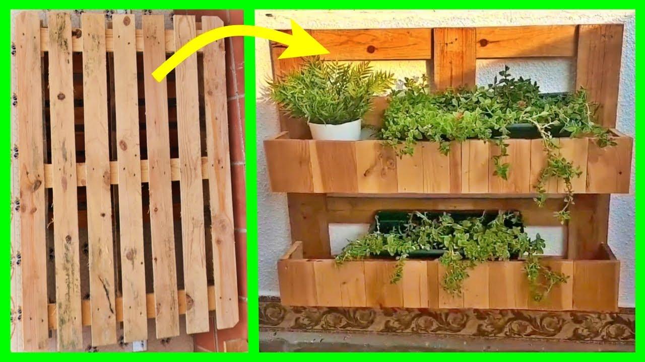 jardinera palet Ideas Con Palets JARDINERA VERTICAL DIY