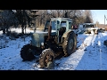 Starting Tractor T-40AM After 3 Months -5C Degrees (1080p)