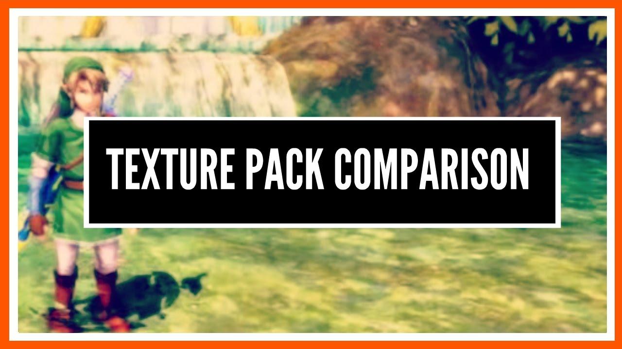 The Legend of Zelda: Twilight Princess HD Texture Packs Comparison
