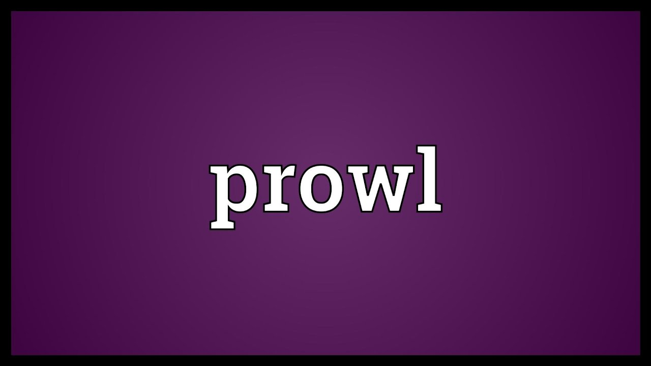 What is the meaning of prowled