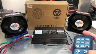 Sirine polisi federal signal 940 400watt wireless sirine Patwal As940