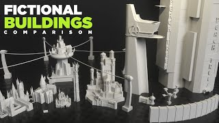 Fictional BUILDINGS Size COMPARISON | 3D [Real Scale] 🏠