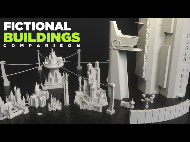 Fictional BUILDINGS | 3D Real Scale