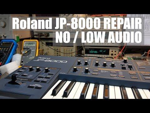 Roland JP-8000 Repair No / Low Audio Output