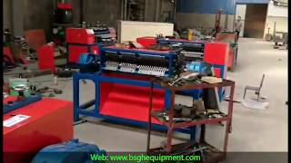 ACR radiator fin cutting and radiator stripping recycling machine for copper recycling
