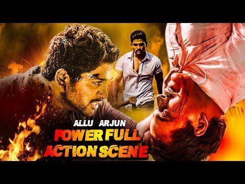 Allu Arjun's Powerful Action Scene   Most Powerful Fight Scene Of Allu Arjun   Best Fight Scene Ever